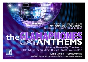 Glamaphones Gay Anthems Concert Poster