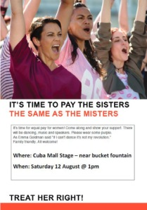 Equal Pay Wgtn poster