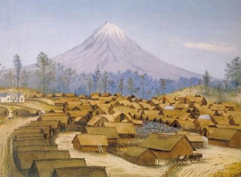 Hikoi Parihaka in 1881.jpg