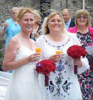 Janet Trina left & Sue's wedding