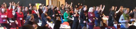 Mana Wahine dancing