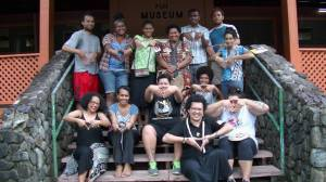 Veiqia proj Fiji open day with FNU volunteers