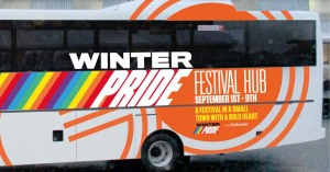 Winter Pride bus