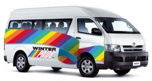 Winter Pride van